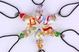 Tegenhanger van het Aroma van het Glas van de Halsband van de Halsband van de essentiële Olie de In het groot Kleurrijke met Cork