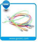 Material de goma trasferencia de datos de carga rápida 5V 2un cable USB.