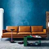 Sofà moderno del cuoio della mobilia del salone di svago (L018)