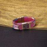 Bracelete de couro das mulheres da cor vermelha da pulseira de Hotsale