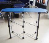 Прямые алюминиевые хлопают вверх встречная таблица промотирования печатание PVC