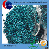 A cor verde Masterbatch Grânulos de plástico para suporte plástico bom desempenho
