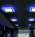 Square 18W+6W double voyant de panneau à LED de couleur