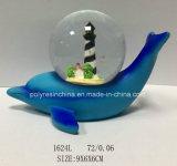 Nuevo globo de la nieve del recuerdo del océano para la decoración de los regalos