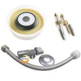 Encaixe do encanamento para os parafusos do anel da cera do reparo do toalete