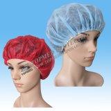 Bouffant descartáveis esfregam chapéus/redes de cabelo descartáveis para o serviço de alimento