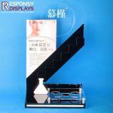Présentoir acrylique personnalisé de produits de beauté de partie supérieure du comptoir avec le beau modèle