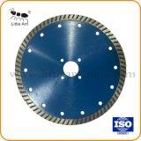 180mm Turbo disque diamanté d'onde pour la coupe des pierres de granite