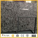 Pietra bianca artificiale costruita del quarzo per le parti superiori della cucina