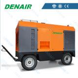 Motore di potere compressore d'aria mobile diesel di 150 chilowatt con le rotelle