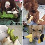 良質ペット製品のライオンワニはプラシ天犬の咀嚼動物のおもちゃを詰めた