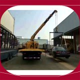 3トン平面レッカー車のレッカー車によって取付けられるクレーン5トンの