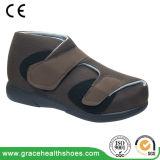 Ботинки неподдельной кожи широкие с Lace-up конструкцией содружественной для диабетической ноги