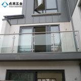 Pasamano casero modificado para requisitos particulares del acero inoxidable de la decoración para el balcón