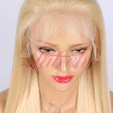 Venda por grosso de cor da luz brasileira #613 um cabelo liso Perucas