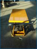 tabela de elevador hidráulico manual da mão 150kg
