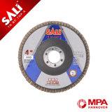 Disco de la solapa del óxido de aluminio de la alta calidad para el metal, el acero y la madera de pulido