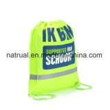 Sac de cordon promotionnel de polyester/sac de chaîne de caractères d'attraction sac à dos de cordon
