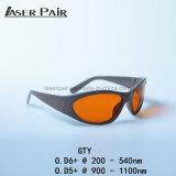 Óculos de proteção de segurança 532nm&1064nm do laser para as máquinas da remoção do tatuagem do ND YAG, sistemas do laser com estilo do esporte