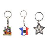 Faites votre propre logo Métal 3D de pièces de chaîne de clé, commerce de gros fabricants de trousseau personnalisé de souvenirs de métal en Chine