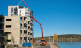pompe hydraulique concrète montée par camion de 53m