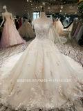 Marfim Aoliweiya/Champanhe uma linha Lace vestido de casamento