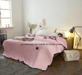 Katoenen van 100% Roze Gewatteerd Dekbed van Amerikaanse Stijl voor Beddegoed