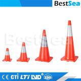 Orange, Kalk, grüner Belüftung-Plastikverkehrs-Kegel zur Verkehrssicherheit