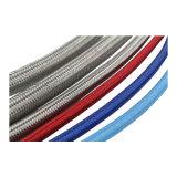 Transparent flexible en caoutchouc de silicone de qualité alimentaire de la tresse de tube