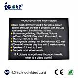 Formato A5 de venda quente cartão de anúncio de 4.3 polegadas com LCD