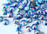 2018 obscuridade de venda Shining e quente - grânulo de vidro azul do Ab na pedra quente de Preciosa da cópia do Rhinestone do reparo (obscuridade do TP- - Ab azul)