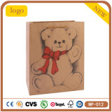 blaues reizendes Bären-Handschuh-Strickjacke-Woollen Kraftpapier-Einkaufen-Geschenk-Papierbeutel