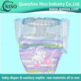 高いQulaityの赤ん坊のおむつをホックテープ/Side伸縮性があるテープと白い伸縮性があるホック買いなさい