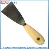 정상 95mm 나무로 되는 손잡이 탄소 강철 퍼티용 흙손