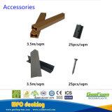 Hueco compuesto de plástico gris de la madera al aire libre pisos Revestimientos de WPC