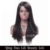 Fatto nella parte superiore della Cina che vende la parrucca piena naturale del merletto di colore diritto con i capelli del bambino