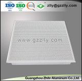 24 azulejos de aluminio perforados acústicos decorativos del techo de la venta caliente '' *24 '' con ISO 9001
