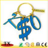 Catena chiave dell'anello chiave di alfabeti del regalo di promozione con il marchio su ordinazione