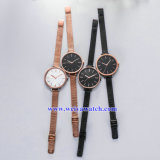 quartz Wist Watch 의 숙녀 시계 (WY17026B) OEM 메시 합금 결박 숙녀