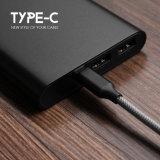 Cable trenzado rápidamente de carga del USB del producto de calidad el 100cm para el Tipo-c