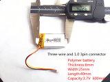 602540 3.7V 600mAh Navulbare Li-Polymeer Li-Ion Batterij