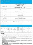 Elevada precisão do termômetro de Digitas com fonte de alimentação externa 24V do LCD de 5 dígitos