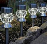 セリウムおよびRoHS Approvaledのステンレス鋼の太陽庭の棒ライト