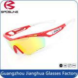 Lunettes de soleil de sport de lunetterie de sport en plein air d'hommes en verre de prix bas polarisées