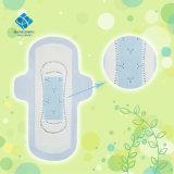 245mm ultra delgado desechables de uso diurno Dama algodón toalla sanitaria