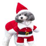 새로운 강아지는 개 작은 테디 개를 위한 산타클로스 복장 크리스마스 애완 동물 옷 Hoodie 외투 의류를 입는다
