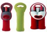 Isolierneopren-Wein-Wasser-Flaschen-Halter für Arbeitsweg mit sicherem tragen Griff (WHCY98-1)