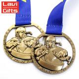 Medaglia del premio del metallo placcata smalto molle su ordine poco costoso dell'argento del pezzo fuso del diametro