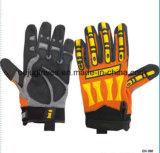 反カットオイルの安全手袋TPRは切口の抵抗力がある影響の手袋を支持する