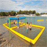 Campo gonfiabile gonfiabile di pallavolo della corte di pallavolo della spiaggia, campo da giuoco gonfiabile del gioco di pallavolo dell'acqua